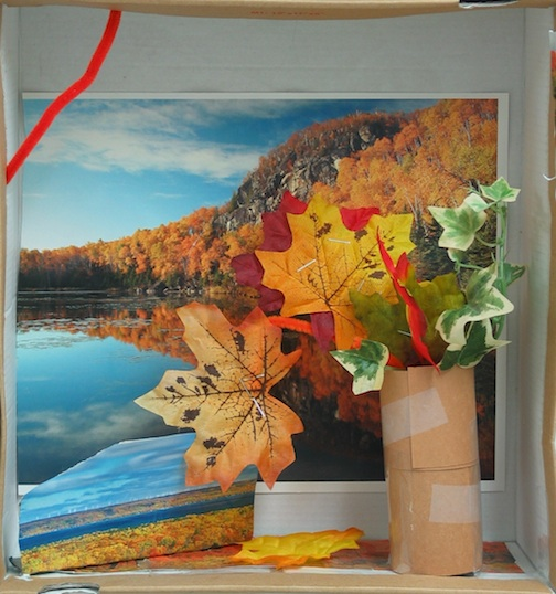 "Diorama in Shoebox, ""Autumn"" by Raylee, a student in Grade 2."