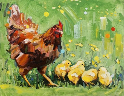 The Rooster Invitational at Lakeside Gallery in Duluth opens with a reception on Saturday at 1 p.m.