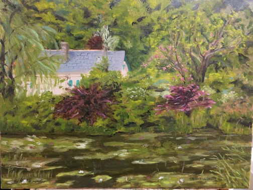 """Across the Pond-- Monet's House, Giverny"" by Sandi Pillsbury."