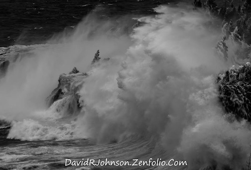 Faces in the Waves by David Johnson.