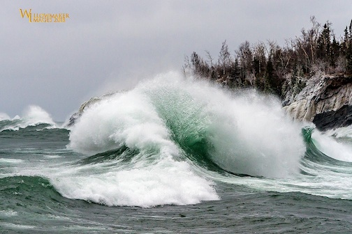 Split Rock Waves by Jamie Rabold.
