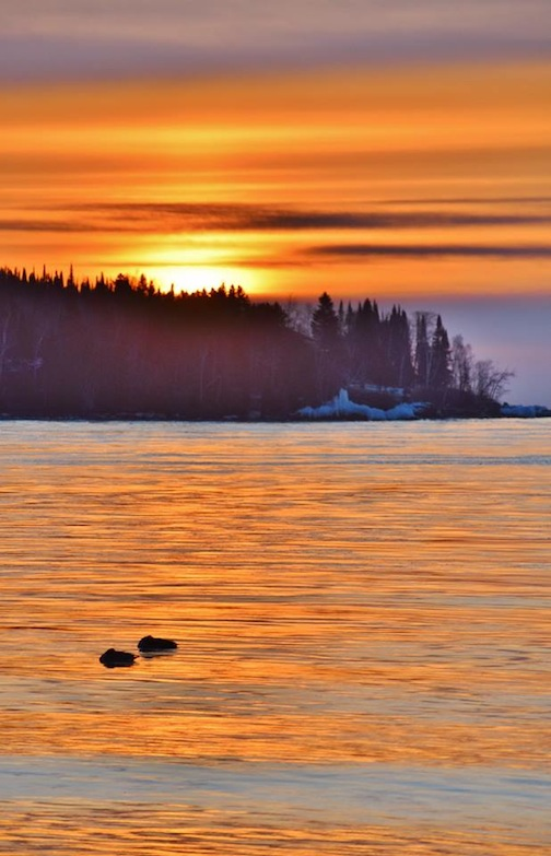 Two Harbors Sunrise by Jan Swart.