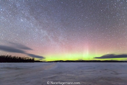 Northern Lights at dawn by Nace Hagemann.