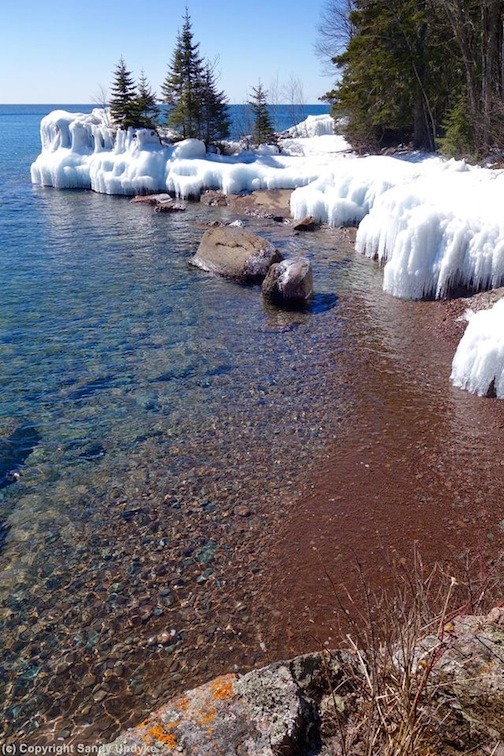 Early spring on Lake Superior by Sandra Updyke.