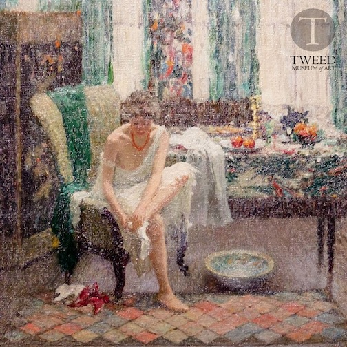 """The Footbath (The Toilet) by Helen Turner, 1917, oil on canvas."