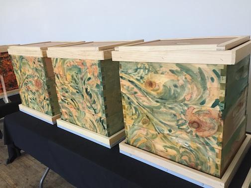 art colony jeff niesen Bee boxes spirulina tumeric beets cane sugar