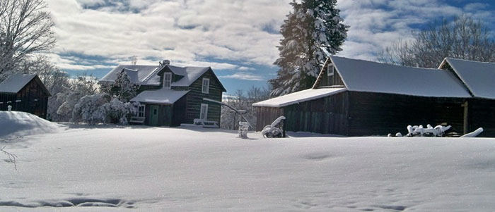 """One of the photographs from the exhibit """"Children of the Finnish Homestead"""" at the Cross River Heritage Center."""