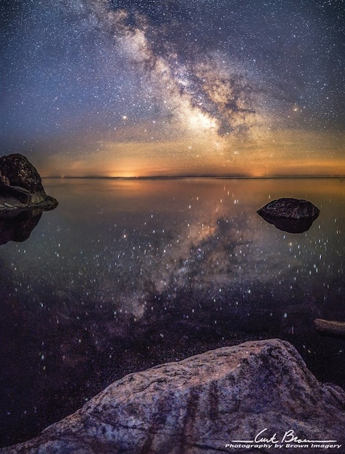 Stars in the water by Curt Brown.