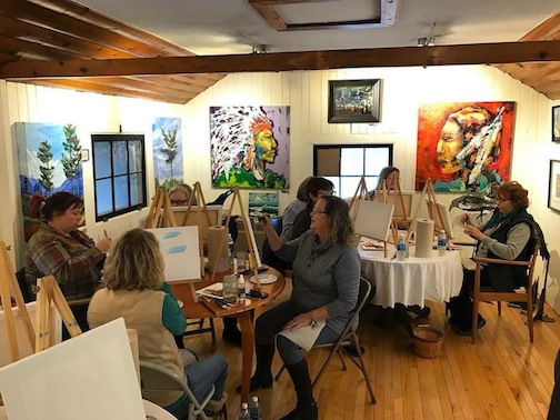 Kah-Nee-Tah Gallery will host a painting class on Saturday.