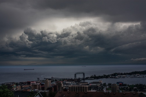 As the storm rolled by Duluth by Luke Goossens.