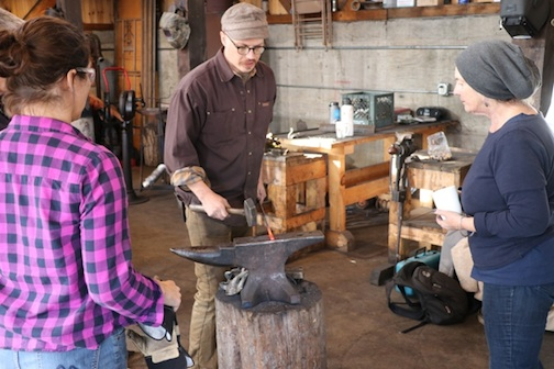 Blacksmith Cody Myers will be dmonstrating his craft at North House from 6-9 p.m. Friday.