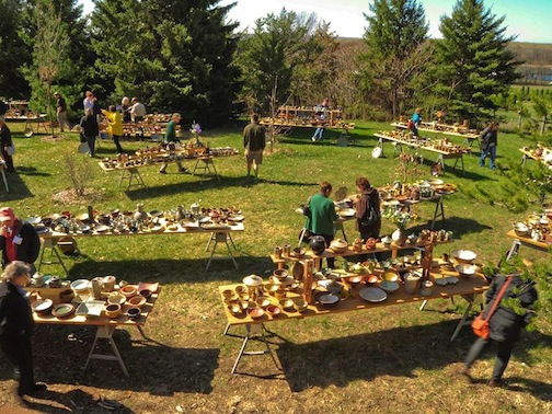 The St. Croix Valley Pottery Tour will featured 62 potters in seven different studios. The pottery is just placed on tables outside, perfect for pottery lovers to pick and choose.