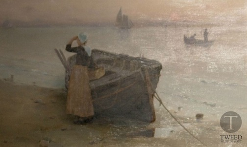 """Twilight on the Sound"" by Luther Emrson Van Gorder, 1889, is one of the paintings on exhibit at the Tweed Museum of Art."