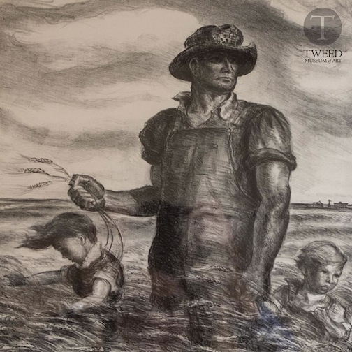 """""""Our Good Earth"""" by Steuart Curry in the """"Treasures from the Home"""" exhibit is at the Tweed Museum of Art."""