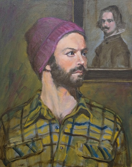 """Portrait of a Young Man (Gavin) by Dale Lucas is on exhibit at the Tweed Museum of Art."