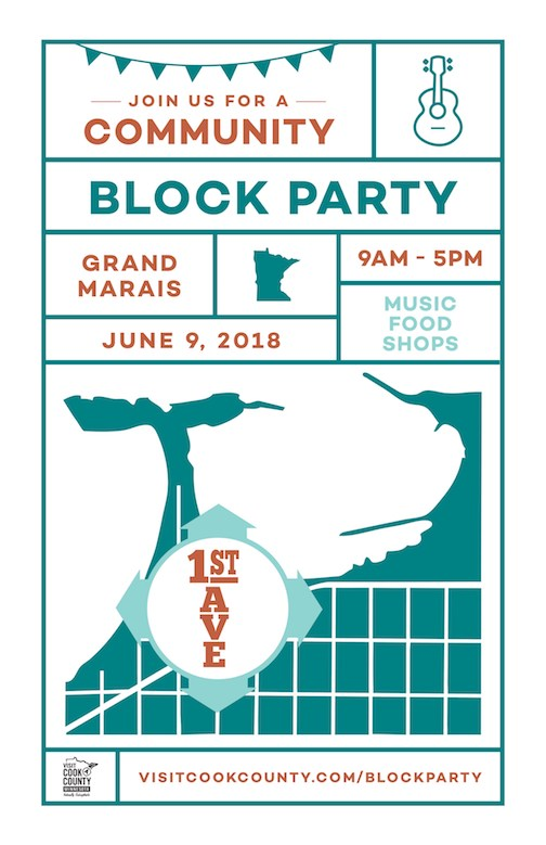 The Grand Marais Block Party will be held in downtown Grand Marais on Saturday.