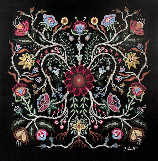 """Conversation,"" beadwork by Christi Belcourt."