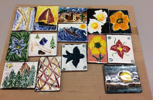 The last Paint-A-Tile class in June will be held on Friday at the Grand Marais Art Colony. The next workshop will be held at the end of July.