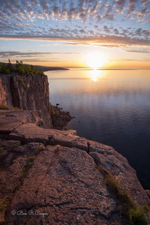 Palisade Head at sunrise by Ben Cooper.