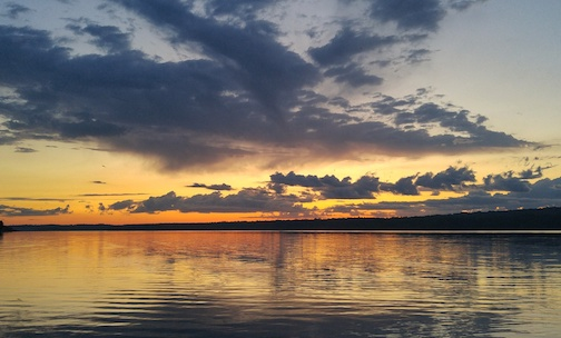 Sunset on Devil Track Lake by Don Davison.