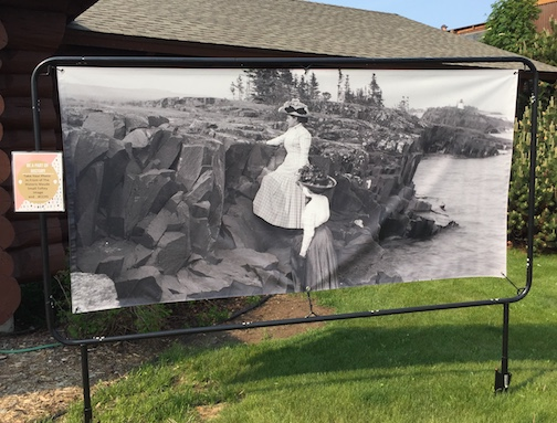 Maude Small Toftey took this photo years ago. The Johnson Heritage Post has installed a blow-up of the great image on its front lawn this summer as a photo-op and eye-catcher.