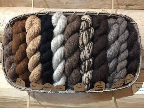 "The source of it all. ""Natural Animal Fibers"" by Kay Rosenthal. Hands-on alpaca, camel, dog, goat, llama, sheep, silk, yak."