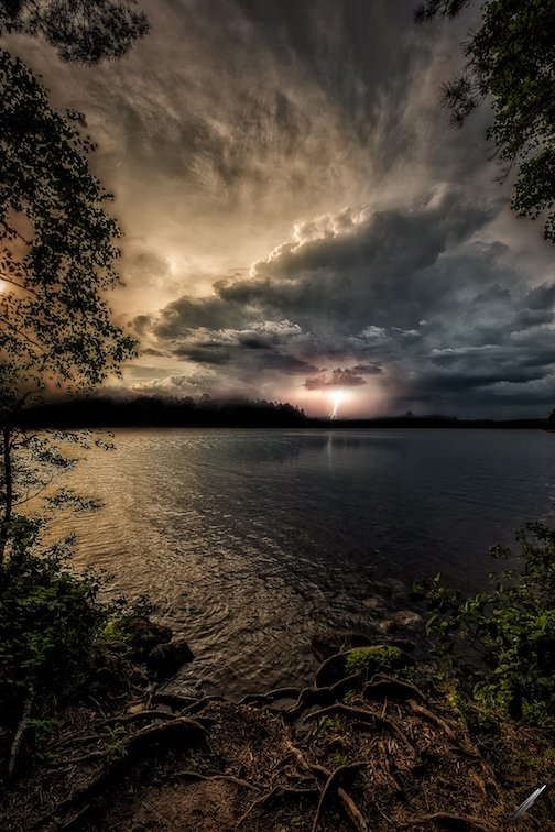 A little storm rolled through the BWCA by Matt Herberg.