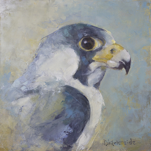 Peregrine Falcon by Deborah Kirkeeide is one of the works in the exhibit at Tettegouche State Park.