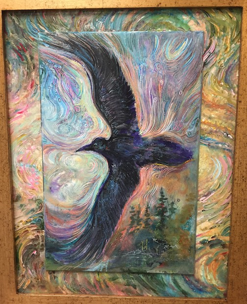 Anna Hess has new work at The Big Lake, including this piece, Raven Currents.