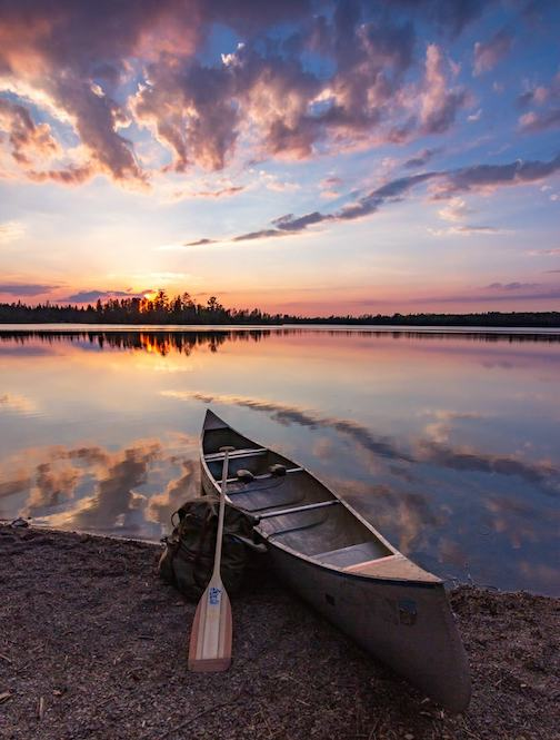 The end of the day in the BWCA by Thomas Spence.