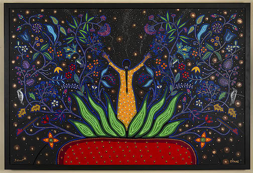 """New Beginnings"", Christi Belcourt and Isaac Murdoch, is one of the works at the Thunder Bay Art Gallery."