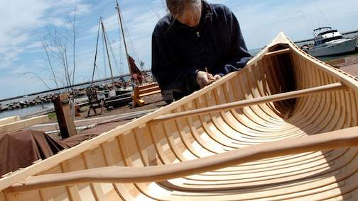 Everything from handmade canoes to antique boats are on display at the Wooden Boat Show.