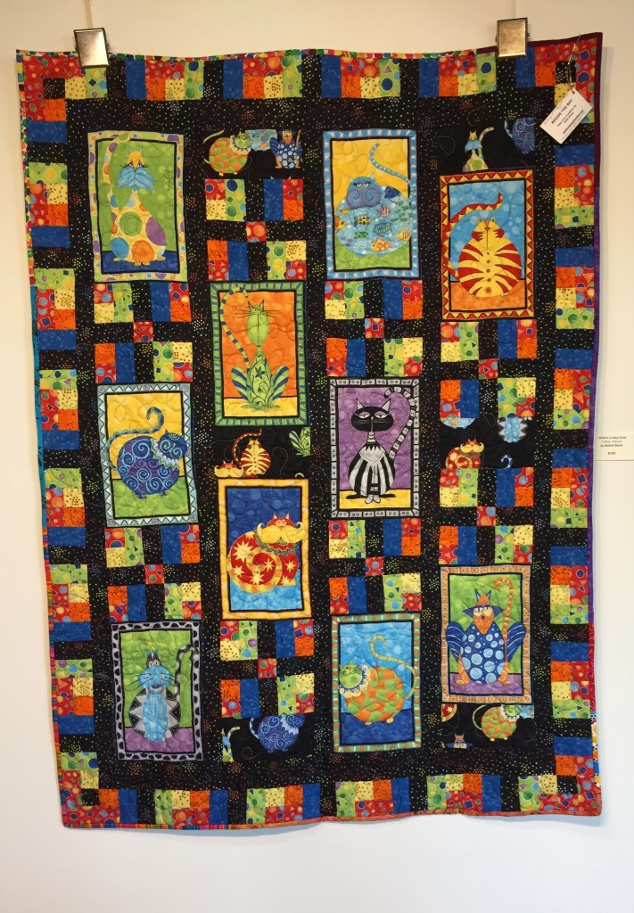 "Beth Blank's ""Child's Nap Quilt"" is one of the pieces exhibited at the Northwood Fiber Guild's show at the Johnson Heritage Post."