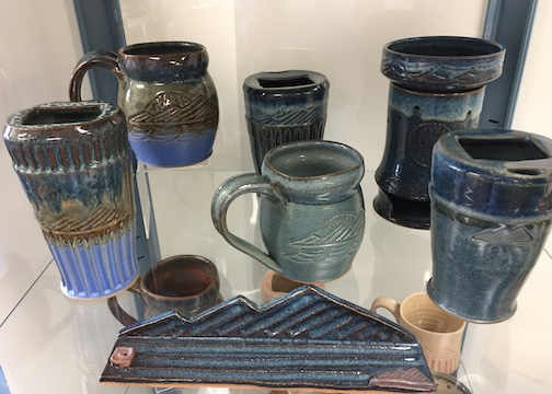 Hannah Palma Laky has her pottery at The Big Lake.