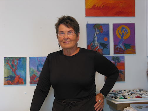 Hazel Belvo will give an Artist Talk at Cook County Higher Education at 7 p.m. Wednesday.
