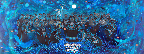 """Revolution of Love"" by Christi Belcourt is at the Thunder Bay Art Gallery in Thunder Bay."