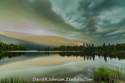 Out chasing the storm this morning by David Johnson.
