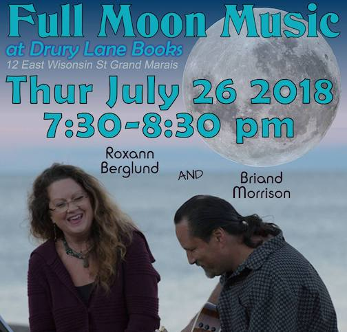 Briand Morrison and Roxann Berglund will play music by the bonfire at Drury Lane Books on Thursday.