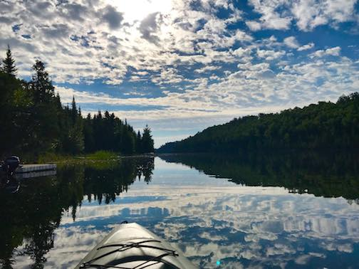 A beautiful morning for a little kayaking. Photo courtesy of Golden Eagle Lodge.
