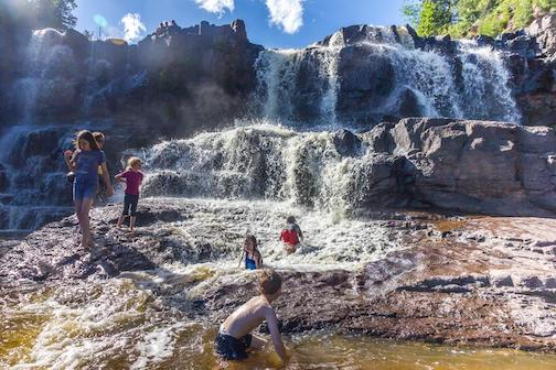 At the waterpark--Gooseberry Falls State Park by Mary American.