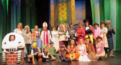 """Shrek the Musical"" (photo of the cast, above) and the comedy ""Mom's Gift"" will be performed this weekend and next at the Arrowhead Center for the Arts."