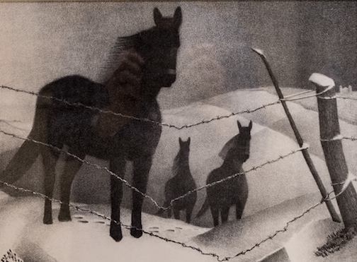 Lithograph on paper by Grant Wood is at the Tweed Museum of Art.