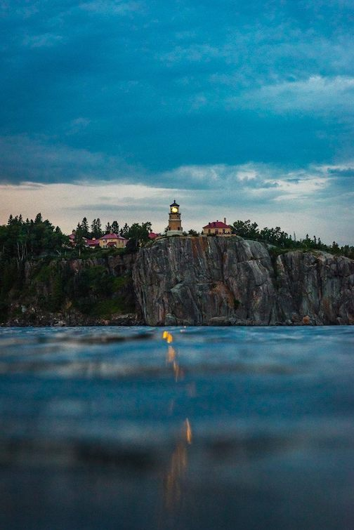 Happy Birthday Split Rock Lighthouse, 108-years young -- a ship's view by Christian Dalbec.