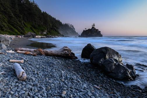 Blue Hour at Hidden Beach by Don Tredinnick.