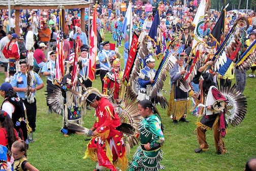 The Grand Portage Celebration Pow-wow draws hundreds of dancers for the three-day event.