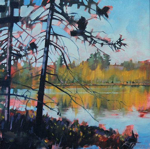 Tamarack View, oil, by Reid Thorpe.