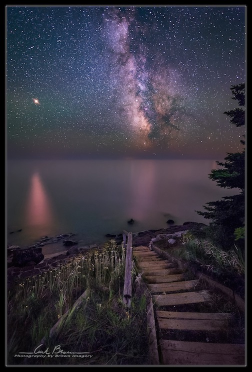 Steps leading to Lake Superior near Cascade River State Park by Curt Brown.