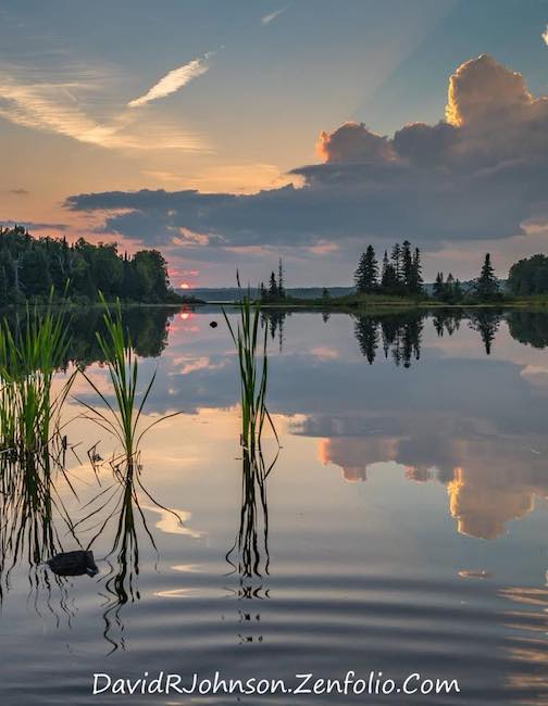 Summer sunset by David Johnson.