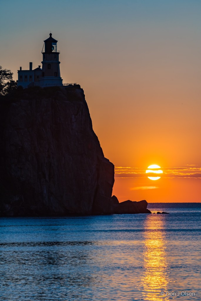 Wednesday morning sunrise from Split Rock by Donald Jay Olson.