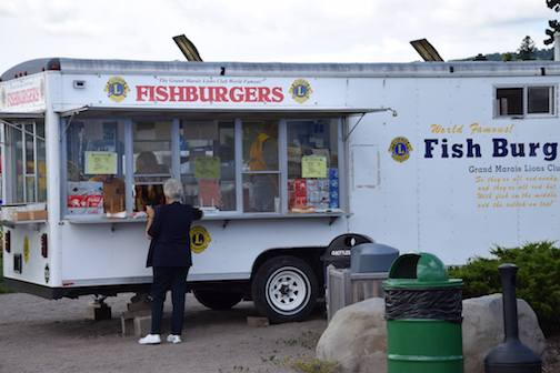Fish Burgers, crafted from herring caught in Lake Superior, are one of the features of Fisherman's Picnic, sponsored by the Grand Marais Lions Club.